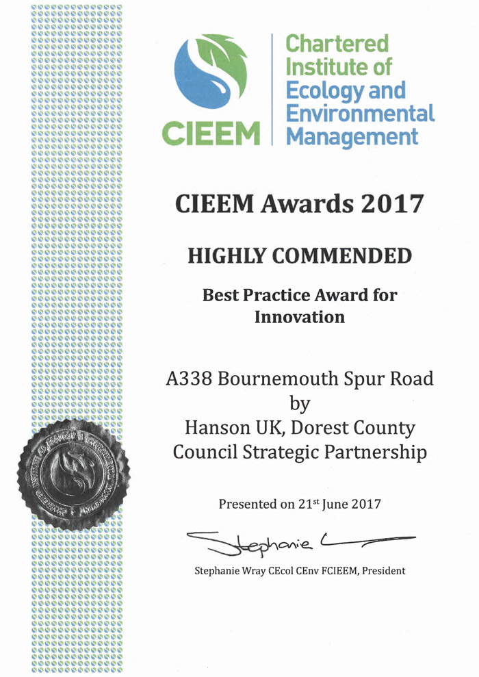 CIEEM Award Certificate